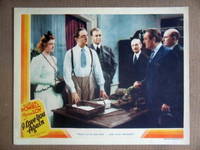 HV15 I Love You Again MYRNA LOY/WILLIAM POWELL 1940 Original Lobby Card