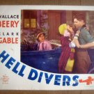 ID06 Hell Divers CLARK GABLE Original 1931 Lobby Card