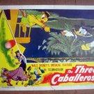 ID123 WALT DISNEY'S THREE CABALLEROS with DONALD DUCK (Original 1945 Lobby Card)