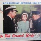 XY105 WELL GROOMED BRIDE Olivia De Havilland/Ray Milland  orig 1944 lobby card