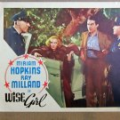 XY40 WISE GIRL  Miriam Hopkins/Ray Milland   original 1937 lobby card