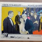 XY60 MANSLAUGHTER Cecil B. DeMille silent with Leatrice Joy Orig 1922 Lobby Card