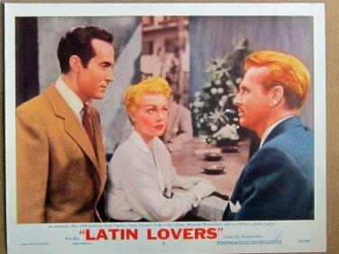 XY83 LATIN LOVERS  Lana Turner  original  1953  lobby card