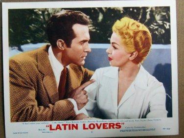 XY84 LATIN LOVERS  Lana Turner  original  1953  lobby card