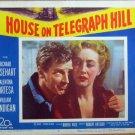 XY87 HOUSE ON TELEGRAPH HILL  Richard Basehart   original  1951  lobby card