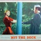 XY88 HIT THE DECK  Jane Powell and   Vic Damone  original  1955  lobby card