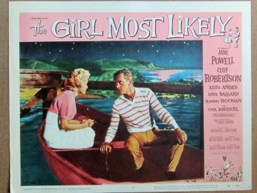 XY90 GIRL MOST LIKELY Jane Powell and Cliff Robertson original  1955  lobby card