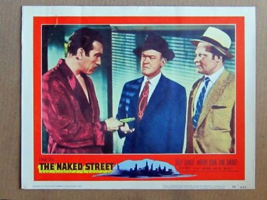 XY91 NAKED STREET  Anthony Quinn   original  1955  lobby card