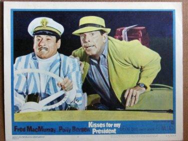 XY94 KISSES FOR MY PRESIDENT  Fred MacMurrayoriginal  1964  lobby card