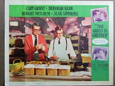 XY99 GRASS IS GREENER   Cary Grant  original 1961 lobby card