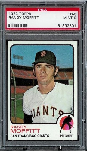 1973 Topps Baseball Randy Moffitt #43 PSA 9