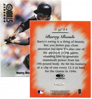 1997 Studio Master Strokes Jumbo Executive Promo/Sample Barry Bonds XXXX/5000 Masterstrokes