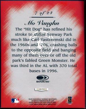 1997 Studio Master Strokes Jumbo Executive Promo/Sample Mo Vaughn XXXX/5000 Masterstrokes