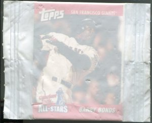 2002 Cracker Jack Prize Toy Barry Bonds in Wrapper