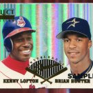 1996 Select Certified Interleague Preview SAMPLE #20 of 25 Kenny Lofton & Brian Hunter