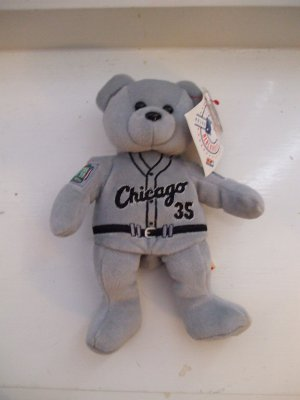1999 Team ML Bears All Star Game Frank Thomas #35 Gray Plush Beanie Bear