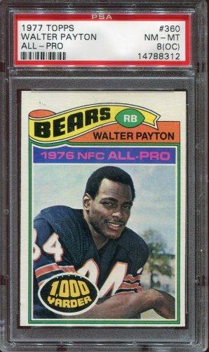 1977 Topps Football Walter Payton #360 PSA 8 (OC) equals PSA 6