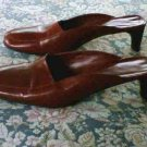 Banana Republic Burgundy Mules Shoes Heels 6.5 B
