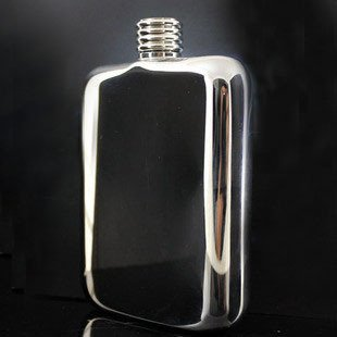 Free Shipping--Classical designed stainless steel hip flask  6 oz