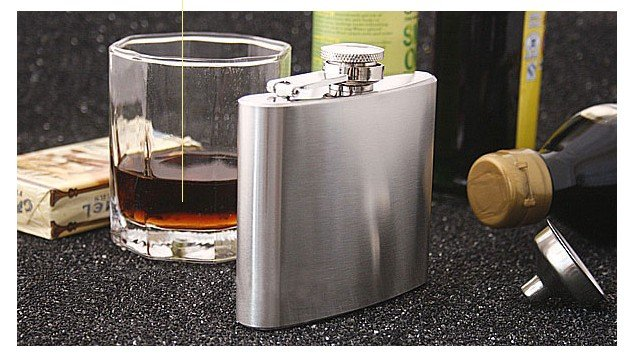 Free Shipping 3 pcs/lot Hip Flask With Funnel 5 oz