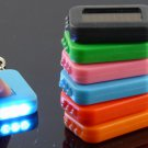 Free Shipping--6 pcs/lot rechargable solar mini LED flash light  key chain light with solar panel
