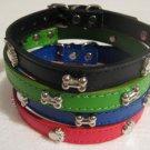 free shipping -- 6 pcs / lot soft pu pet collar pet supply