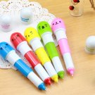 Free shipping---50 pcs/lot capsule ballpen with smiling face