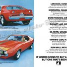 """1971 American Motors Javelin-AMX Ad Digitized & Re-mastered Print """"Buy 1 That's Been Places"""" 16""""x24"""""""