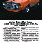 "1971 American Motors Javelin-AMX Ad Digitized & Re-mastered Print ""Specially Prepared"" 16"" x 24"""