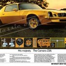 "1978 Camaro Z/28 Ad Digitized & Re-mastered Poster Print ""His Majesty. The Camaro Z/28"" 16"" x 24"""