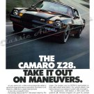 """1978 Camaro Z/28 Ad Digitized & Re-mastered Poster Print """"Take it Out on Maneuvers"""" 18"""" x 24"""""""