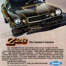 "1977 Camaro Z/28 Ad Digitized & Re-mastered Poster Print ""The Camaro's Camaro"" 17"" x 24"""