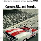 "1969 Camaro RS/SS Ad Digitized & Re-mastered Poster Print ""Camaro SS and Friends"" 18"" x 24"""