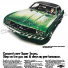 "1969 Camaro SS Ad Digitized & Re-mastered Print ""Super Scoop - Steps Up Performance"" 18"" x 24"""