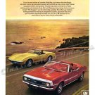 "1968 Camaro SS Ad Digitized & Re-mastered Poster Print ""Hugs the Road With the Best of Them"" 18""x24"""