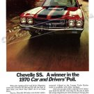 """1970 Chevelle SS Ad Digitized & Re-mastered Poster Print """"Winner in the Car & Drivers Poll"""" 18""""x24"""""""