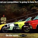 """1970 Chevy Lineup Ad Digitized & Re-mastered Print """"Competition Going to Have to Live With"""" 16""""x24"""""""
