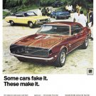 """1968 Chevy Sport Lineup Ad Digitized & Re-mastered Print """"Some Cars Fake It, Make It"""" 24"""" x 32"""""""