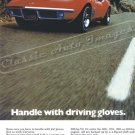 """1970 Chev. Corvette Stingray Ad Digitized & Re-mastered Print """"Handle with Driving Gloves"""" 18"""" x 24"""""""