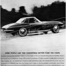"1964 Chevrolet Corvette Stingray Ad Digitized & Re-mastered Print ""Convertible vs. Coupe"" 18"" x 24"""