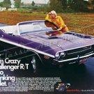 "1970 Dodge Challenger R/T Ad Digitized & Re-mastered Poster Print ""No Shrinking Violet"" 18"" x 24"""
