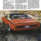 """1971 Charger R/T Ad Digitized & Re-mastered Poster Print """"Designed Strictly for Adults"""" 18"""" x 24"""""""