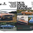 "1970 Dodge Scat Pack Ad Digitized & Re-mastered Poster Print ""Road Ready"" 16"" x 24"""