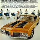 "1970 Oldsmobile 442 Digitized & Re-mastered Ad Poster Print ""Escape Machine"" 17"" x 24"""