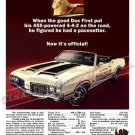"1970 Oldsmobile 442 Ad Digitized & Re-mastered Poster Print ""Pacesetter"" 18"" x 24"""