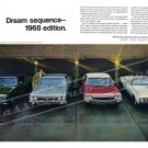 """1968 GM Lineup Ad Digitized & Re-mastered Poster Print """"Dream Sequence- 1968 Edition"""" 16"""" x 24"""""""