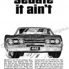 """1967 Oldsmobile 442 Ad Digitized & Re-mastered Poster Print """"Sedate it Ain't"""" 18"""" x 24"""""""