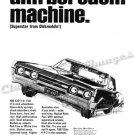 "1967 Oldsmobile 442 Ad Digitized & Re-mastered Poster Print ""Anti-Boredom Machine"" 18"" x 24"""