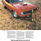 "1970 Plymouth Hemi 'Cuda Ad Digitized & Re-mastered Poster Print ""Hello New People"" 18"" x 24"""