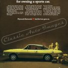 """1969 Plymouth Barracuda Ad Digitized & Re-mastered Poster Print """"Owning a Sports Car"""" 18"""" x 24"""""""